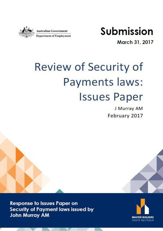 Review of Security of Payment Laws