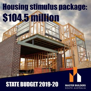 Housing stimulus and infrastructure spend State Budget highlights